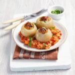 пълнен лук с ориз и кайма
